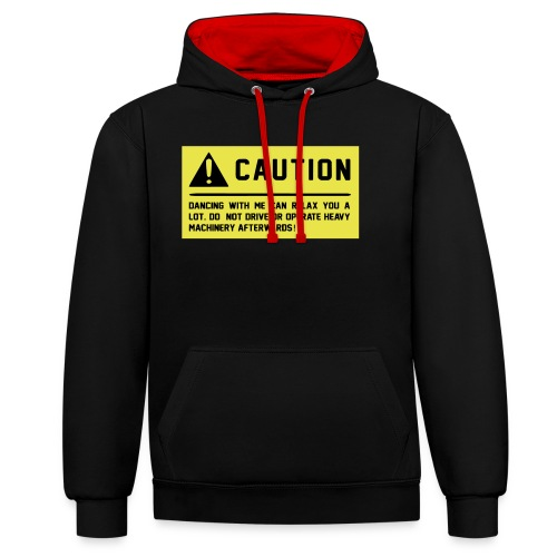 Caution - Kontrast-Hoodie