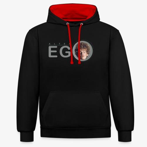 EGO - Sudadera con capucha en contraste