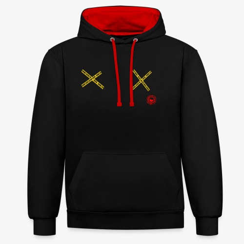 scene - Contrast Colour Hoodie
