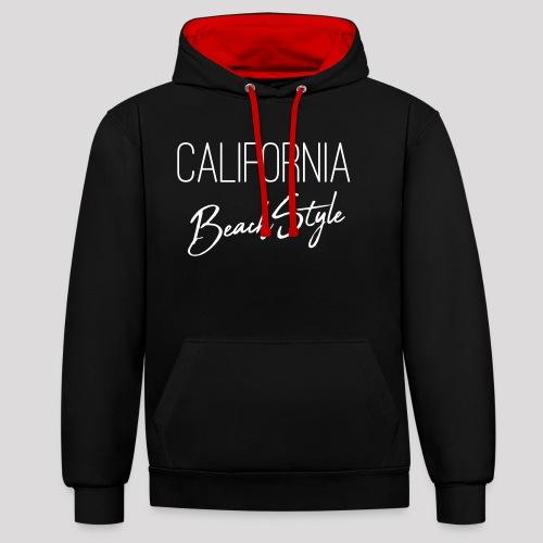 California Beach Style Shirt - Kontrast-Hoodie