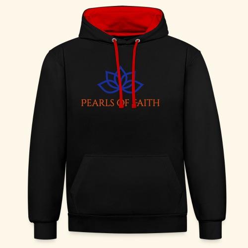 Pearls of Faith - Kontrast-Hoodie