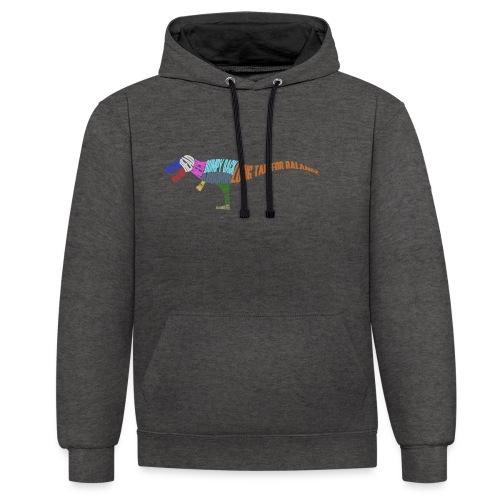 DINOSAUR - Contrast Colour Hoodie