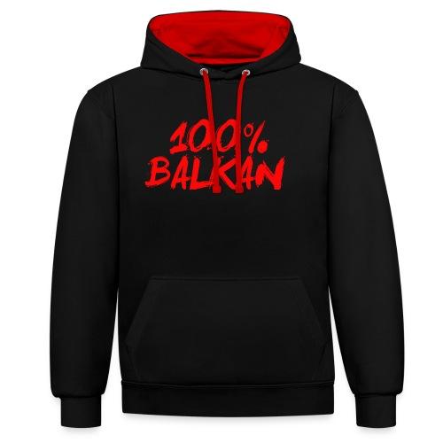 100% Balkan - Kontrast-Hoodie