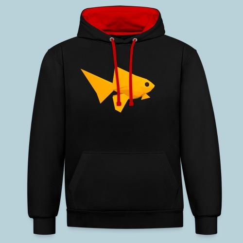 RATWORKS Fish-Smish - Contrast Colour Hoodie
