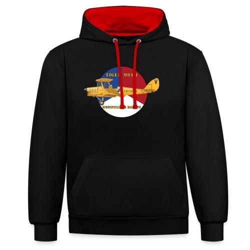 Tiger Moth Kon Marine - Sweat-shirt contraste
