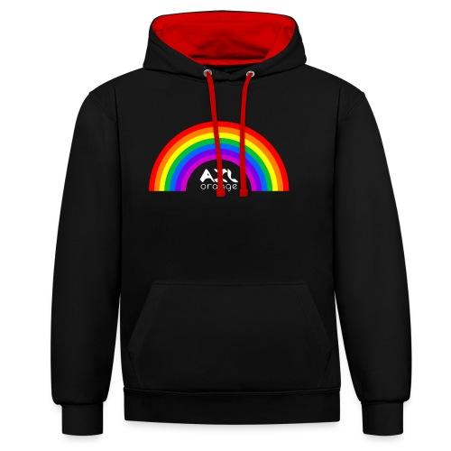AXL_rainbow_arc - Contrast Colour Hoodie