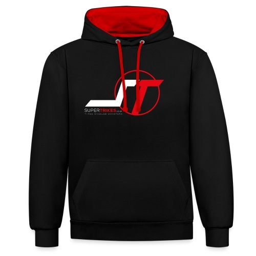 SuperTrikes Logo - Contrast Colour Hoodie