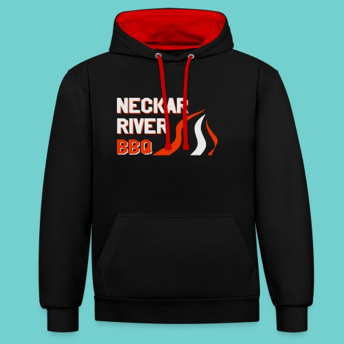 Neckar River BBQ Tasse - Kontrast-Hoodie