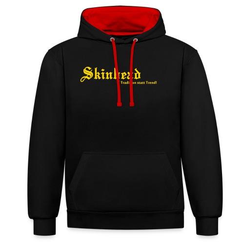 Skinhead Tradition statt Trend! - Kontrast-Hoodie
