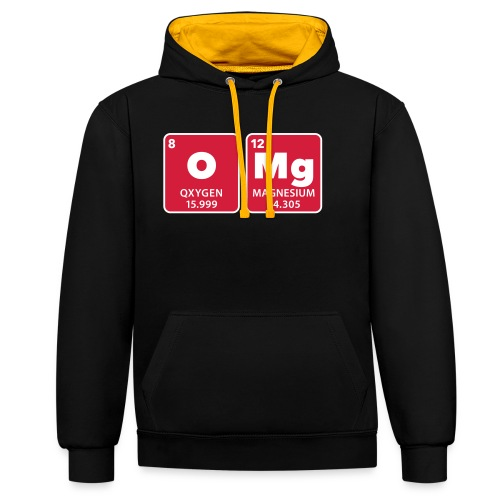 periodic table omg oxygen magnesium Oh mein Gott - Contrast Colour Hoodie