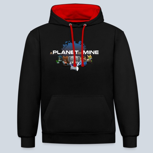 logo planetofmine dark HD - Sweat-shirt contraste