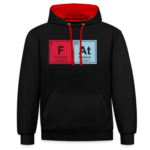 Geeky Fat Periodic Elements - Contrast Colour Hoodie