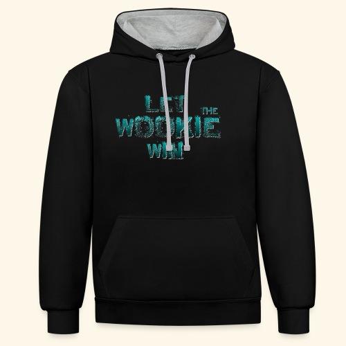 Let The Wookie Win, design 2. - Kontrast-hættetrøje