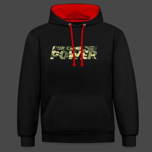 Flonichiwa Power Camouflage - Kontrast-Hoodie