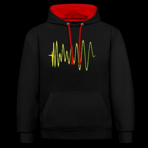 Boom 909 Drum Wave - Contrast Colour Hoodie
