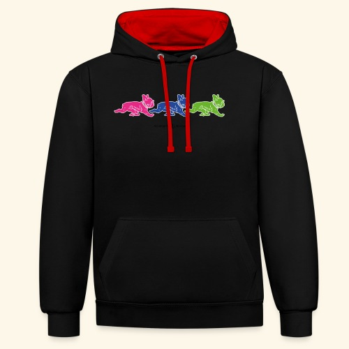 frenchies multicolor - Sweat-shirt contraste