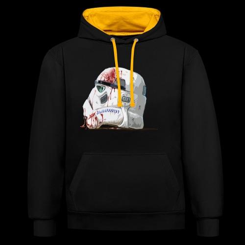 Fallen Stormtrooper - Contrast Colour Hoodie