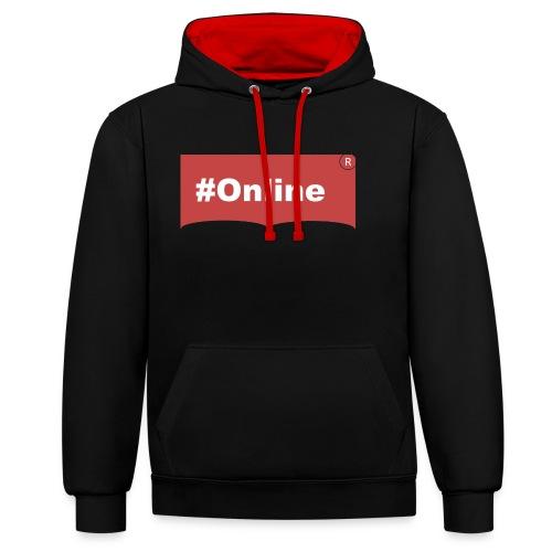 #Online - Kontrast-Hoodie