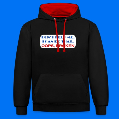 I CAN DO THAT - Kontrast-Hoodie