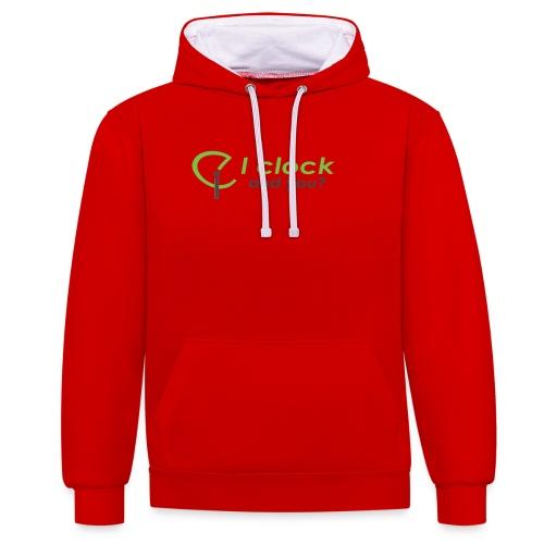 I clock, and you ? - Felpa con cappuccio bicromatica