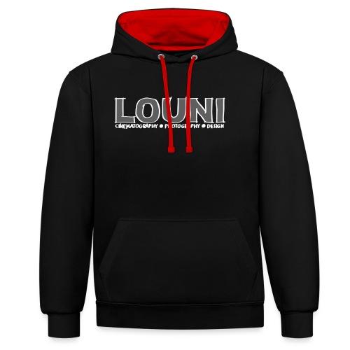Draw LOUNI logo - Contrast hoodie