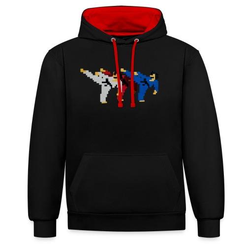 8 bit trip ninjas 2 - Contrast Colour Hoodie