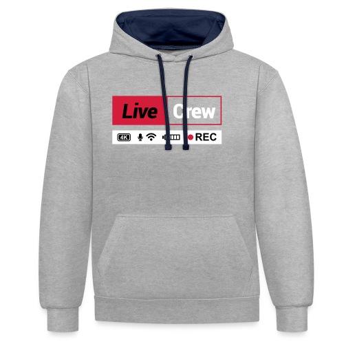Live crew - Felpa con cappuccio bicromatica