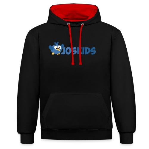 Logo JosKids 3 - Felpa con cappuccio bicromatica