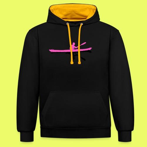 Silhouette_pink-black - Kontrast-Hoodie