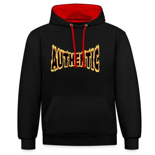 authentic on fire - Sudadera con capucha en contraste