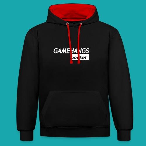 GameHangs Pocket Snapback - Contrast Colour Hoodie