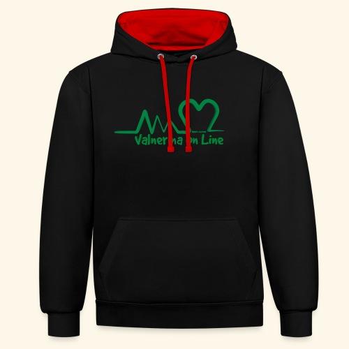logo verde Associazione Valnerina On line - Felpa con cappuccio bicromatica