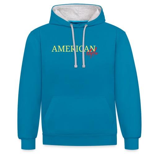 American Style - Sudadera con capucha en contraste