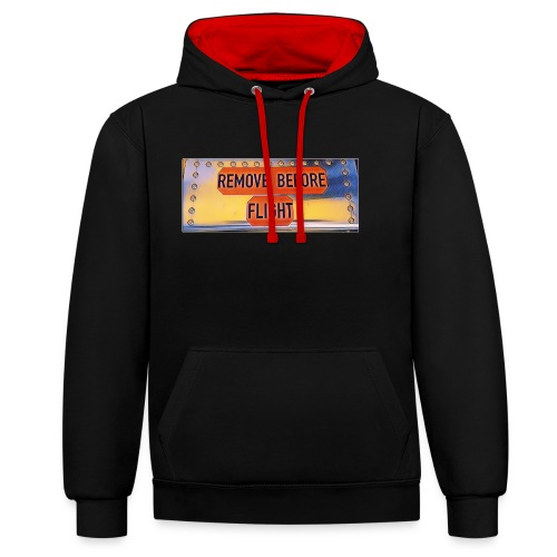 Remove before flight 3 - Kontrast-Hoodie