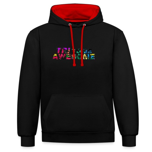 Tri to be Awesome Dschungel - Kontrast-Hoodie