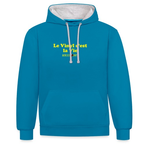 Collection Le Vinyl c'est la Vie - Sweat-shirt contraste