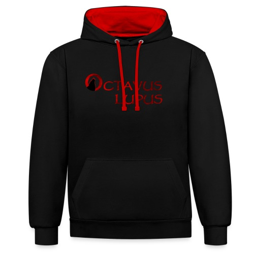Octavus Lupus - Logo Rouge - Sweat-shirt contraste