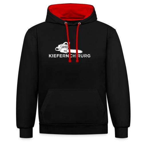 Kiefernchirurg - Kontrast-Hoodie