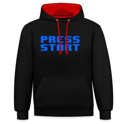 Press Start - Felpa con cappuccio bicromatica