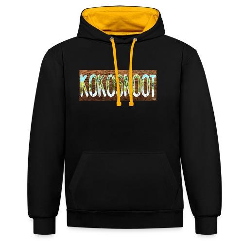Kokosnoot - Contrast hoodie