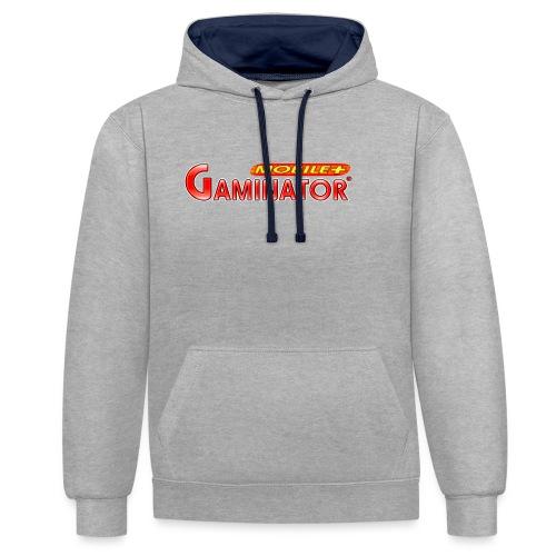 Gaminator logo - Contrast Colour Hoodie
