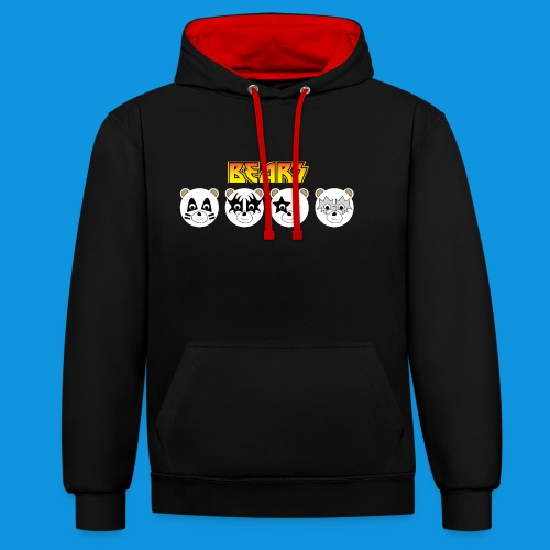 Kiss Bears.png - Contrast Colour Hoodie