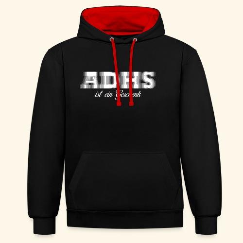 ADHS - Kontrast-Hoodie