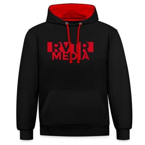 RVTR media red - Kontrast-Hoodie
