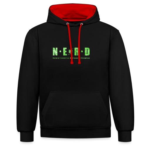 NERD Green - Kontrast-hættetrøje