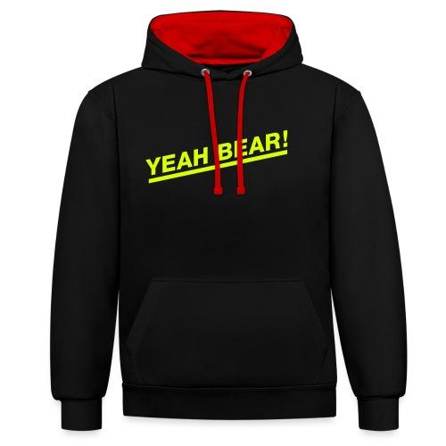 Yeah Bear! - Kontrast-Hoodie