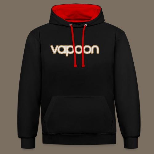 Vapoon Logo simpel 2 Farb - Kontrast-Hoodie