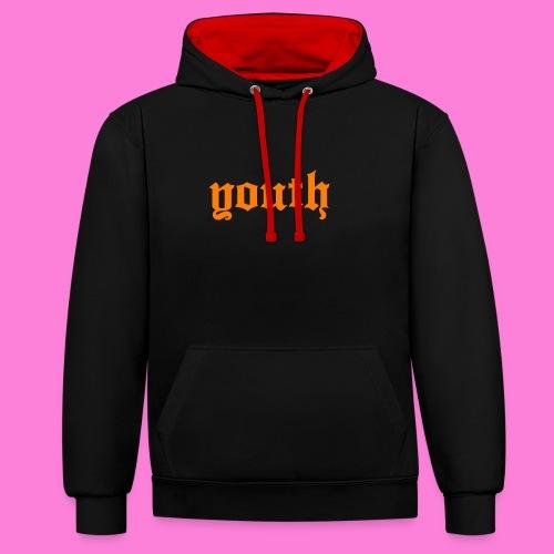youth gothic - Bluza z kapturem z kontrastowymi elementami
