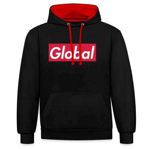 Global - Kontrast-Hoodie