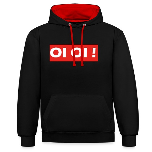 OI OI STORE - Contrast Colour Hoodie